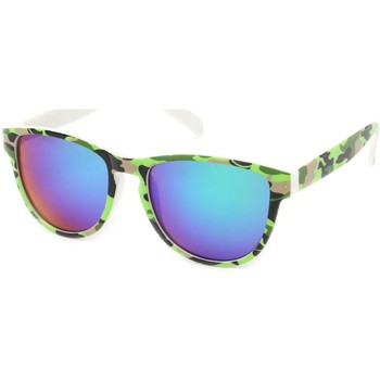 Montres & Bijoux Lunettes de soleil Eye Wear Lunettes Soleil Fool Love monture Camouflage vert clair Vert