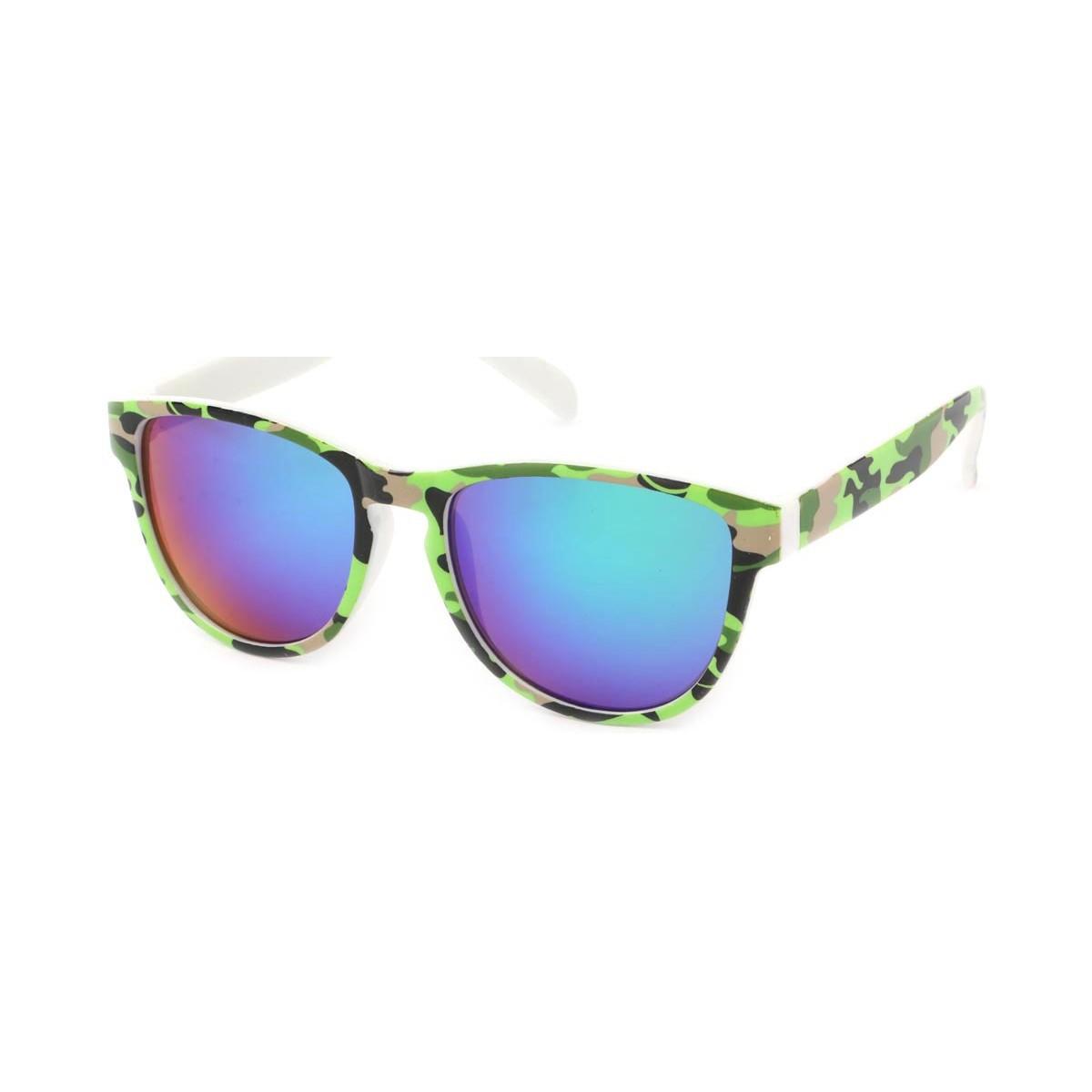 Eye Wear Lunettes Soleil Fool Love monture Camouflage vert clair Vert
