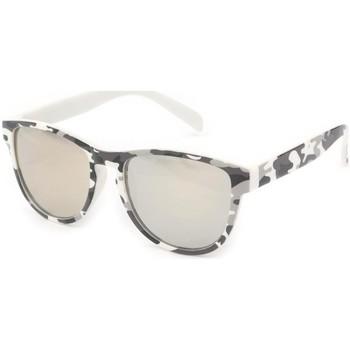 Montres & Bijoux Lunettes de soleil Eye Wear Lunettes Soleil Fool Love monture Camouflage Blanc Marron
