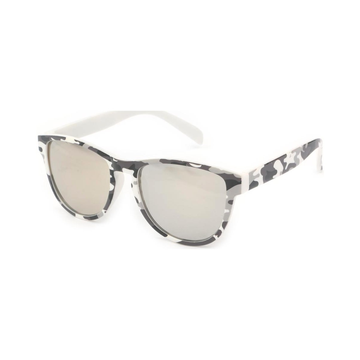 Eye Wear Lunettes Soleil Fool Love monture Camouflage Blanc Marron
