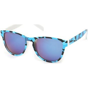 Montres & Bijoux Lunettes de soleil Eye Wear Lunettes Soleil Fool Love monture Bleu et Noire Bleu