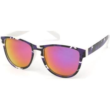 Montres & Bijoux Lunettes de soleil Eye Wear Lunettes Soleil Fool Love monture colorée Noir Violet et Blanc Noir