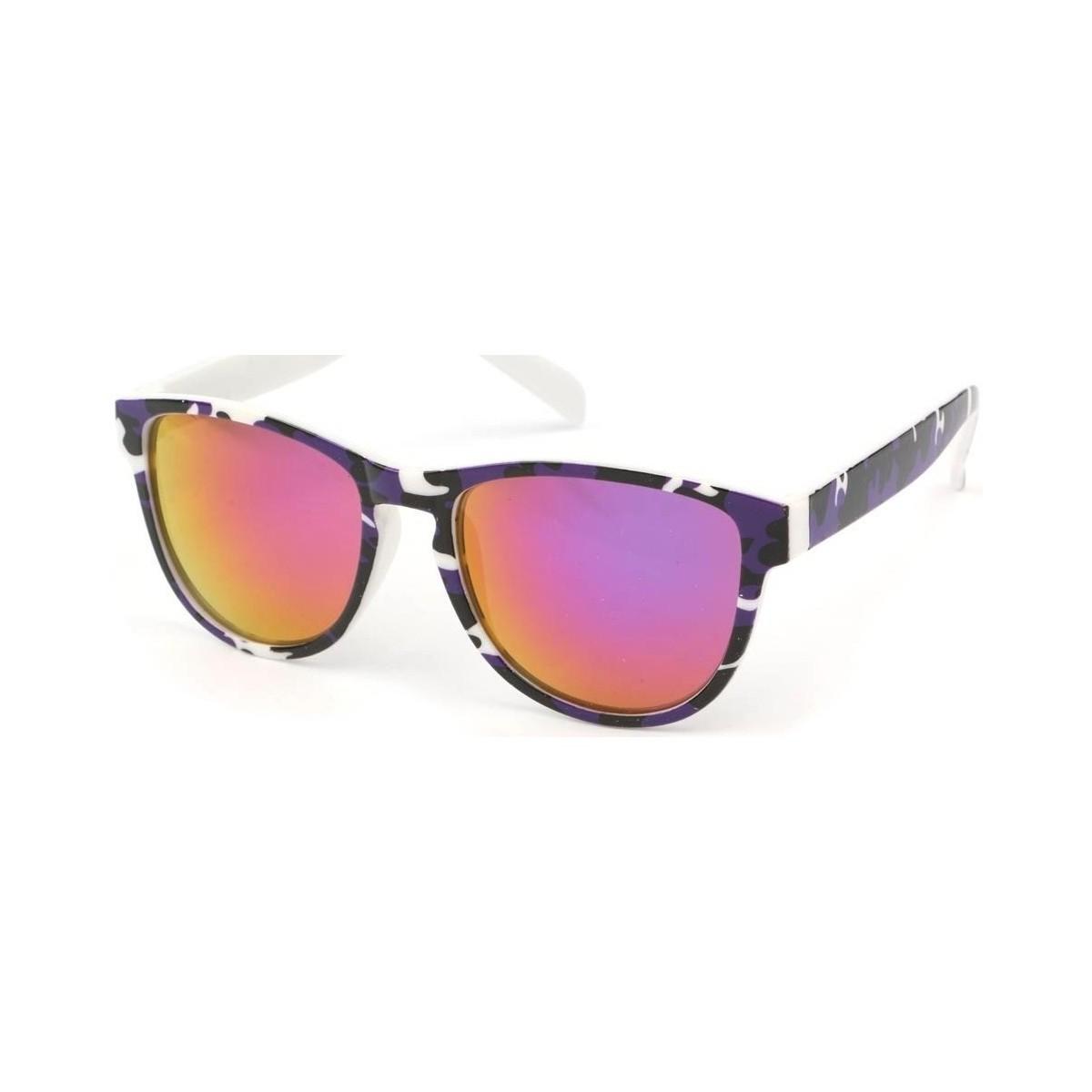 Eye Wear Lunettes Soleil Fool Love monture colorée Noir Violet et Blanc Noir