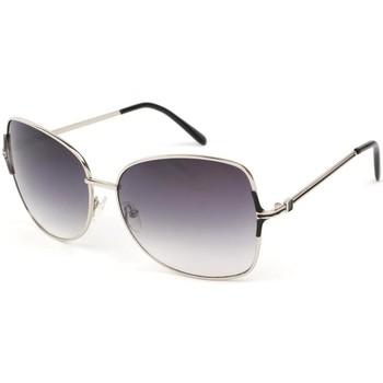Montres & Bijoux Femme Lunettes de soleil Eye Wear Lunettes Soleil Babe avec monture argent verres fumés Gris Gris