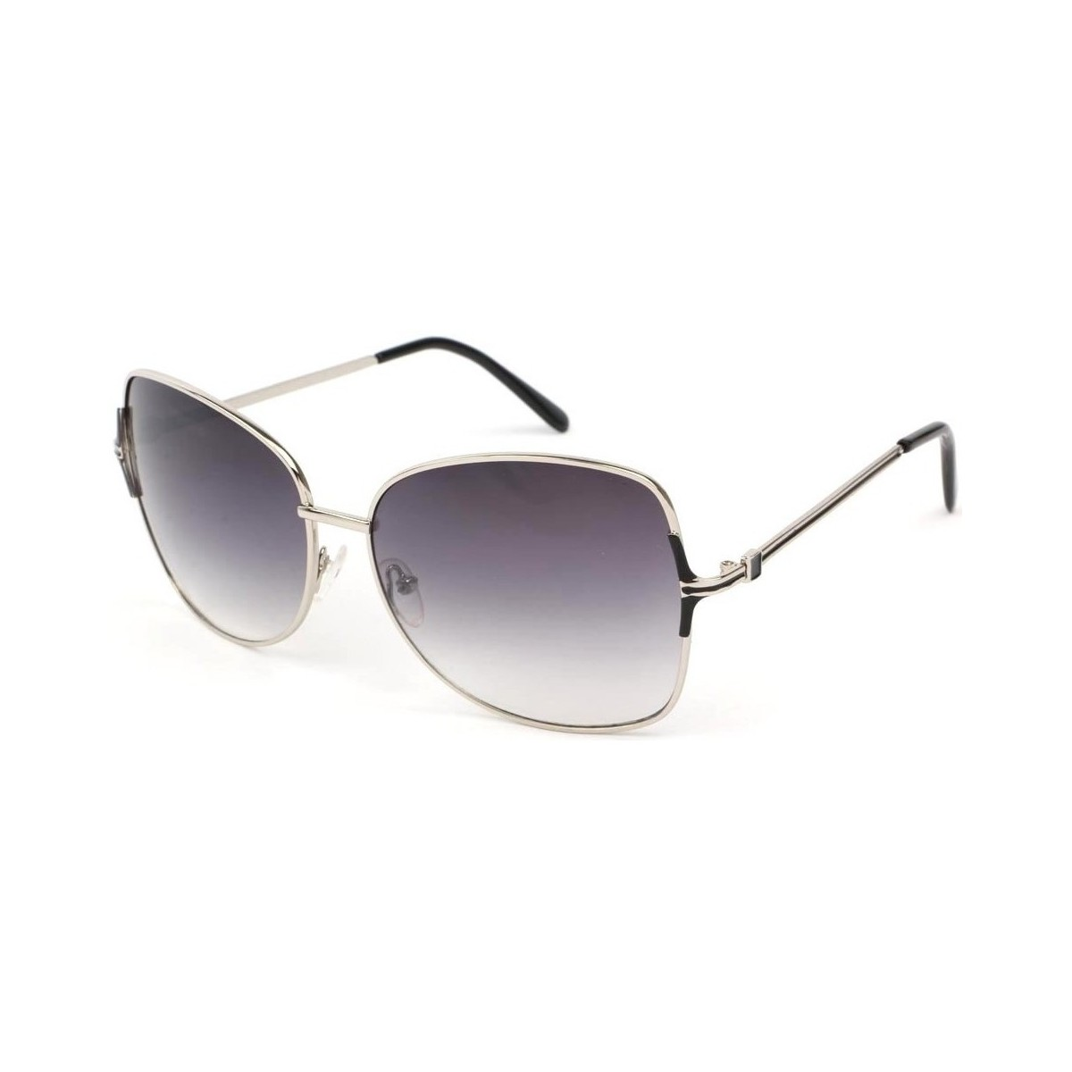 Eye Wear Lunettes Soleil Babe avec monture argent verres fumés Gris Gris