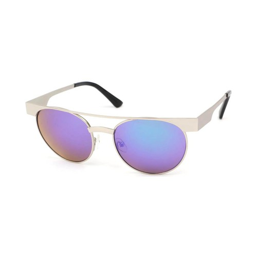 Montres & Bijoux Lunettes de soleil Eye Wear Lunettes Soleil Friends monture Argent verres reflets Bleu Bleu