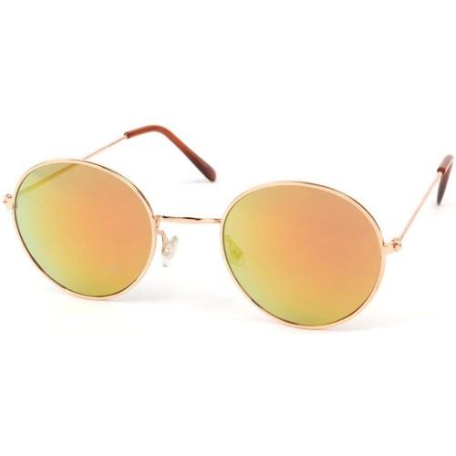 Montres & Bijoux Lunettes de soleil Eye Wear Lunettes Soleil John monture dorée verres reflets dorées Jaune