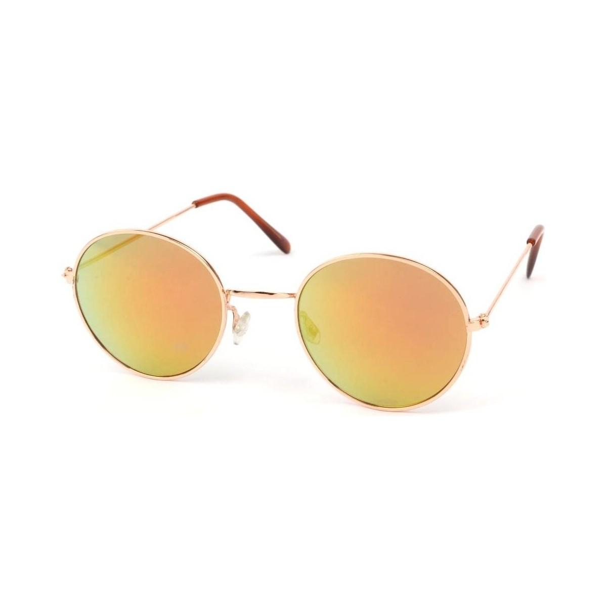 Eye Wear Lunettes Soleil John monture dorée verres reflets dorées Jaune