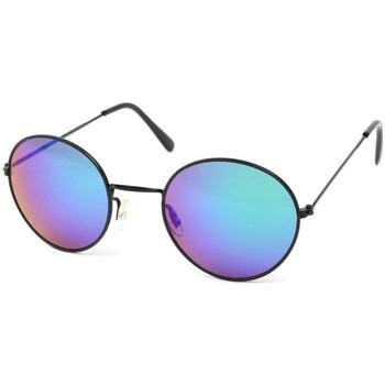 Montres & Bijoux Lunettes de soleil Eye Wear Lunettes Soleil John monture noire verres reflets Bleu Noir