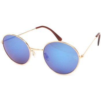 Montres & Bijoux Lunettes de soleil Eye Wear Lunettes Soleil John monture dorée verres reflets bleu Bleu