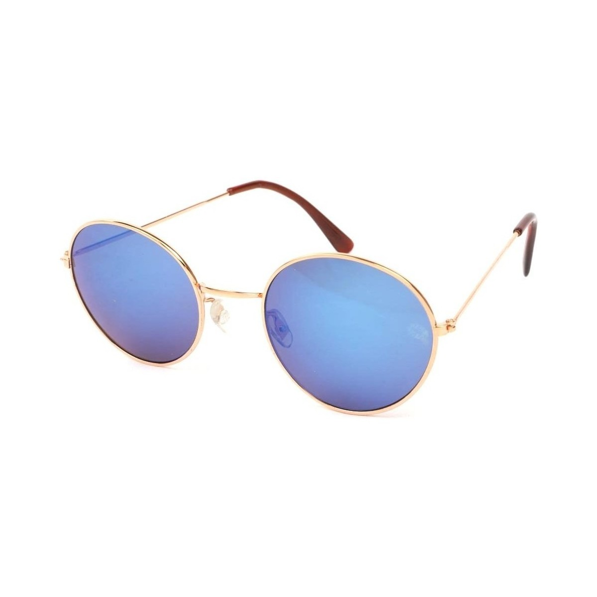 Eye Wear Lunettes Soleil John monture dorée verres reflets bleu Bleu