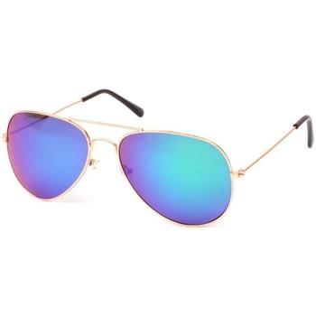 Montres & Bijoux Lunettes de soleil Eye Wear Lunettes Soleil Heartbreaker Acier et reflets Bleu Ciel Bleu