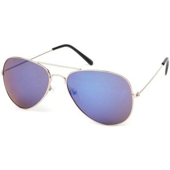 Montres & Bijoux Lunettes de soleil Eye Wear Lunettes Soleil Heartbreaker Acier et reflets Bleu Bleu