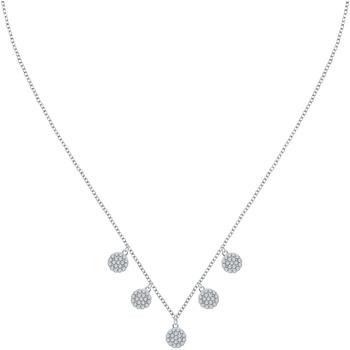 Montres & Bijoux Femme Colliers / Sautoirs Cleor Collier  en Argent 925/1000 Blanc et Oxyde Blanc
