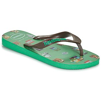 Chaussures Garçon Tongs Havaianas KIDS MINECRAFT Vert