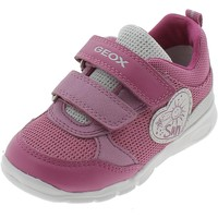 Chaussures Fille Baskets basses Geox B RUNNER FUCSIA Violet