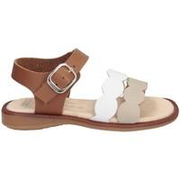Chaussures Fille Sandales et Nu-pieds Andanines 211437 BLANC / CUIR