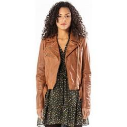 Vêtements Femme Vestes en cuir / synthétiques Rose Garden LAURIE LAMB CASTEL TAN Tan
