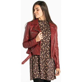 Vêtements Femme Vestes en cuir / synthétiques Rose Garden LAURIE LAMB CASTEL RED Rouge