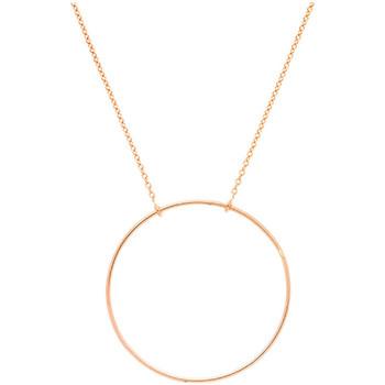 Montres & Bijoux Femme Colliers / Sautoirs Brillaxis Collier cercle ajouré or rose 18 carats Rose