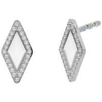 Montres & Bijoux Femme Boucles d'oreilles Fossil Boucles d'oreilles  Be Iconic Blanc