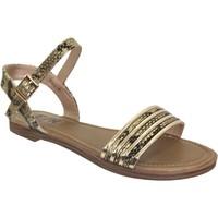 Chaussures Femme Sandales et Nu-pieds Elue par nous Jebel Noir/Or