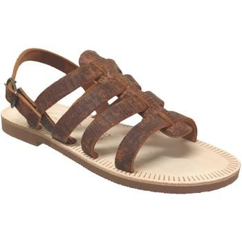 Chaussures Homme Sandales et Nu-pieds Les Spartiates Phoceennes Ali Marron cuir