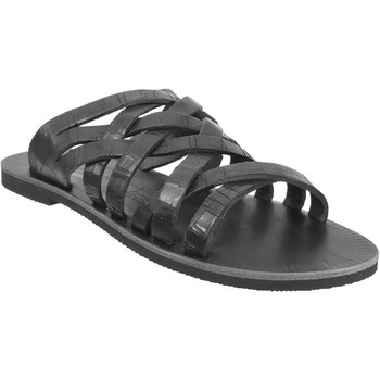 Chaussures Homme Mules Les Spartiates Phoceennes Sevan Noir cuir