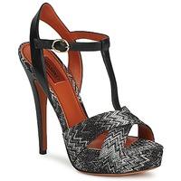 Chaussures Femme Sandales et Nu-pieds Missoni VM034 Noir / Blanc