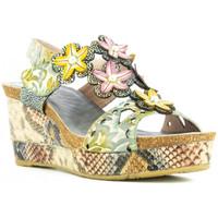 Chaussures Femme Sandales et Nu-pieds Laura Vita Sandales compensé Gris