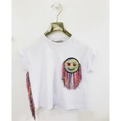 Vêtements Fille T-shirts manches courtes Tiffosi K526 T-shirt Enfant BLANC BLANC