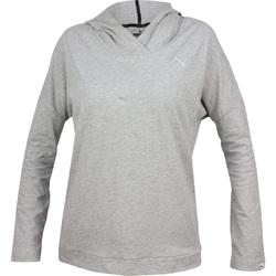 Vêtements Femme Sweats Puma Ess Hooded Cover Up W Gris