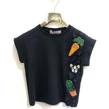 Vêtements Fille T-shirts manches courtes Tiffosi K536 T-shirt Enfant NOIR NOIR