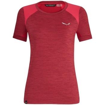Vêtements Femme T-shirts manches courtes Salewa 271251830 Cerise