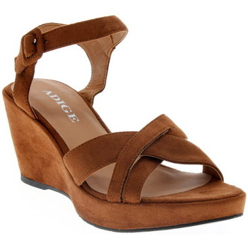Chaussures Femme Sandales et Nu-pieds Adige FLORA HAVANE
