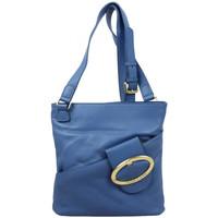 Sacs Femme Pochettes / Sacoches Arthur & Aston Sac plat bandoulière Arthur et Aston cuir souple Bleu uni Multicolor
