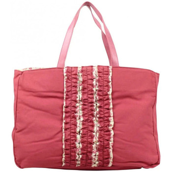 Sacs Femme Cabas / Sacs shopping Patrick Blanc Sac cabas  toile déco froufrou rose framboise rose