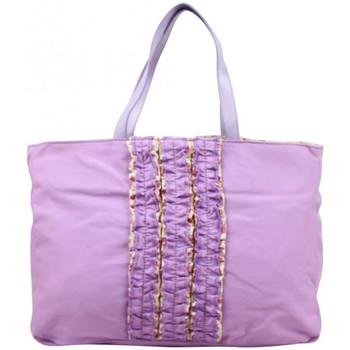 Sacs Femme Cabas / Sacs shopping Patrick Blanc Sac cabas  toile déco froufrou violet violet