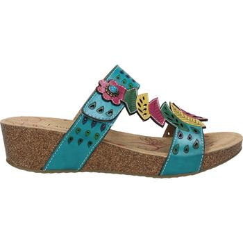Chaussures Femme Sabots Laura Vita Mules Türkis