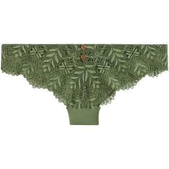 Sous-vêtements Femme Tangas Pommpoire Tanga vert Olive Vert