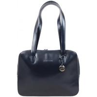 Sacs Femme Cabas / Sacs shopping Arthur & Aston Sac épaule  en cuir lisse semi-rigide Marine Multicolor