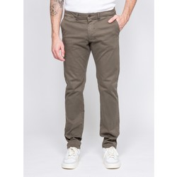 Vêtements Chinos / Carrots Ritchie Pantalon chino coupe ajustée VAIRE Kaki