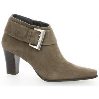 Chaussures Femme Low boots Vidi Studio Low boots cuir velours Taupe