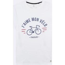Vêtements Homme T-shirts & Polos Faguo Arcy Blanc