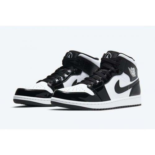 Nike Air Jordan 1 Mid All Star Carbon Fiber Black/White ...