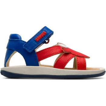 Chaussures Enfant Sandales et Nu-pieds Camper Sandales cuir TWINS rouge