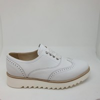Chaussures Femme Derbies & Richelieu NeroGiardini 5092 VELVET DERBY LACET E Blanc