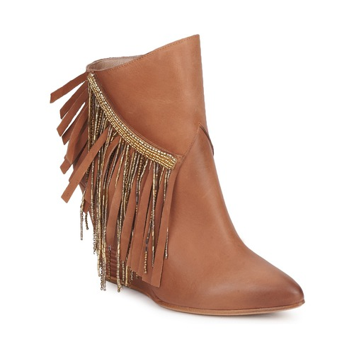 Bottines / Boots Strategia FRANGINOU Nude marron 350x350