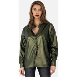 Vêtements Femme Chemises / Chemisiers Kebello Chemise en simili, manches longues Taille : F Vert XS Vert