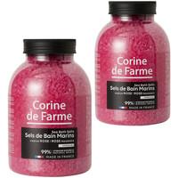 Beauté Produits bains Corine De Farme Lot de 2 Sels de bain Marins Sensual Rose Autres